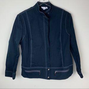 St. John Sport Black Denim Jacket